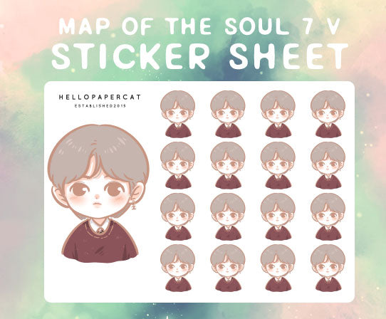 BTS map of the soul 7 V sticker sheet