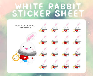 White Rabbit sticker sheet