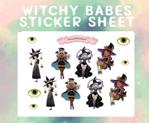 Witchy Babes sticker sheet