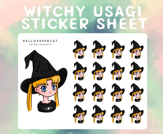 Witchy Usagi sticker sheet