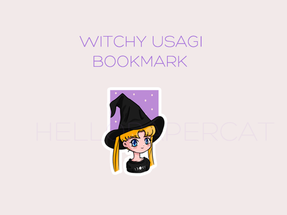 Witchy Usagi magnetic bookmark
