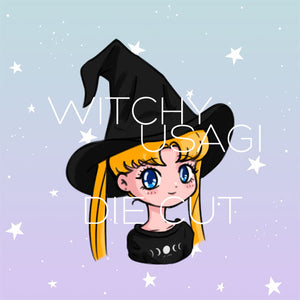 Witchy Usagi die cut