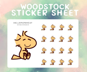 Woodstock sticker sheet