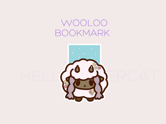 Wooloo cutie magnetic bookmark