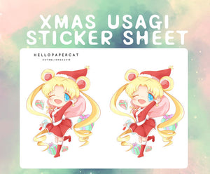 Christmas Usagi deco sticker sheet