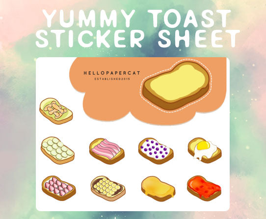 Yummy Toast sticker sheet