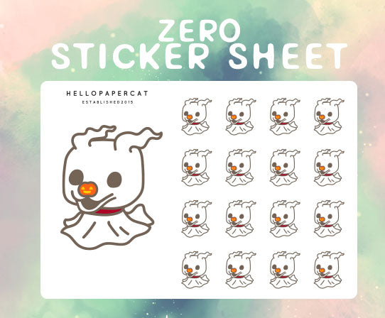 Zero sticker sheet