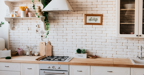 Kitchen with Wall Art