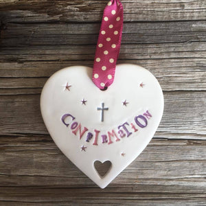 Confirmation Heart Pink