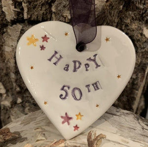 50th Birthday Heart