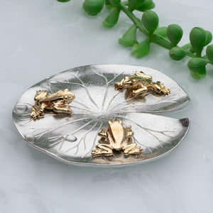 Lilypad with Frogs Pewter Gift
