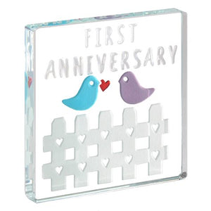 Mini Token First Anniversary Birds