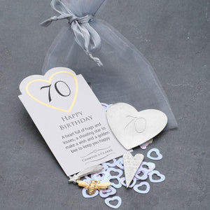 70th Birthday Pocket Charms