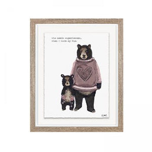 'Superhero Mum' Framed Print