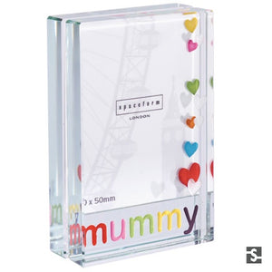 Dinky Frame Mummy Colour Hearts