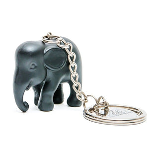Black Elephant Keyring