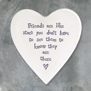Heart Coaster 'Friends are Like Stars'