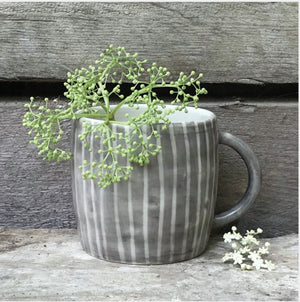 Rustic Mug - Painted Lined