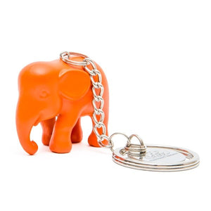 Orange Elephant Keyring