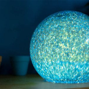 Stellar Blue Small Round Lamp