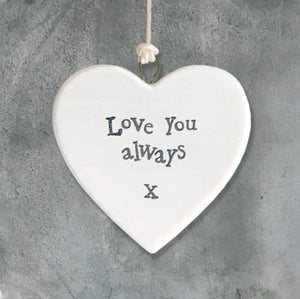 Love You Always Hanging Heart