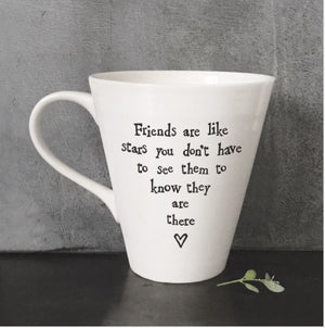 Porcelain Mug - Friends are Like Stars