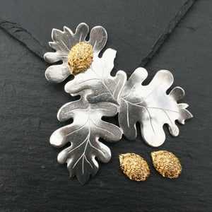 Hedgehog Oak Leaf Pewter Gift