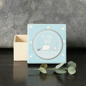 Dotty Blue First Tooth Box