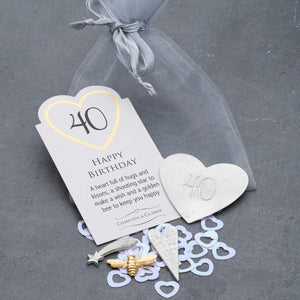 40th Birthday Pocket Charms