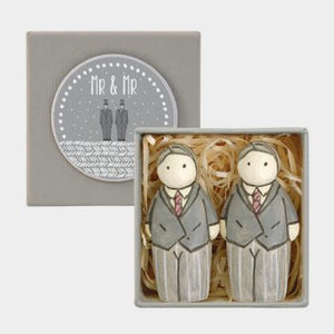 Boxed Wooden Groom & Groom
