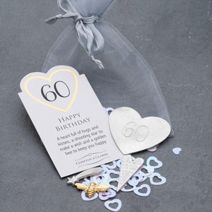 60th Birthday Pocket Charms