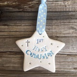 1st Holy Communion Blue Star