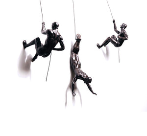 Set of Three Climbing Men