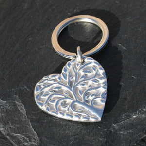 Filigree Heart Keyring
