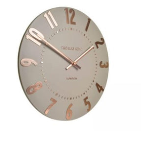 "12"" Mulberry Wall Clock Rose Gold"