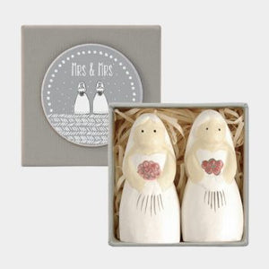 Boxed Wooden Bride & Bride