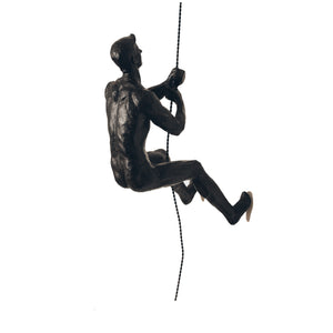 Bronze Climbing Man Single