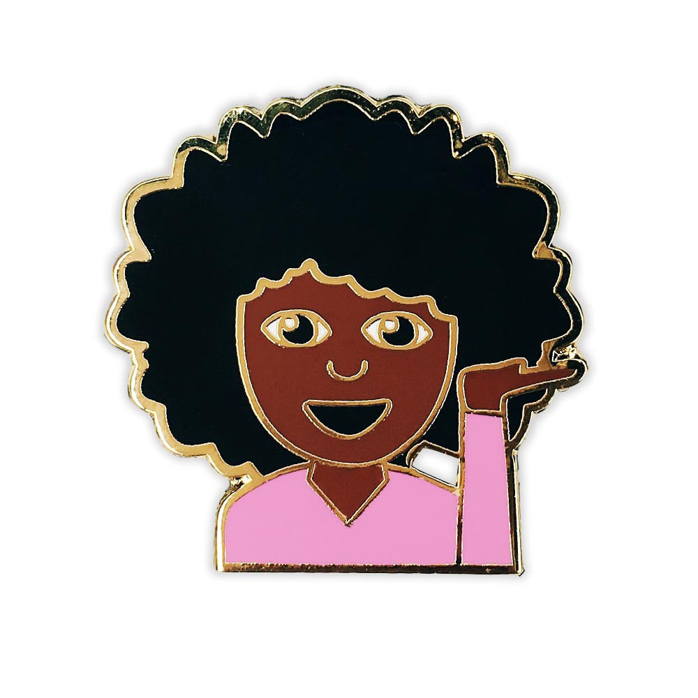 I Love My Hair Emoji Pin