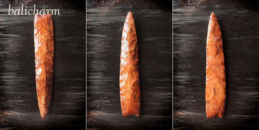 Native American Indian chert spear-blade found in Missouri, United States of America