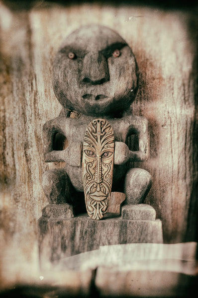Maori talisman with mammoth ivory amulets for sale at Bali Charm