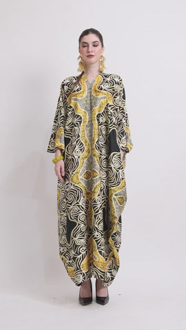 Kanzi Long Sleeve Batik Kaftan