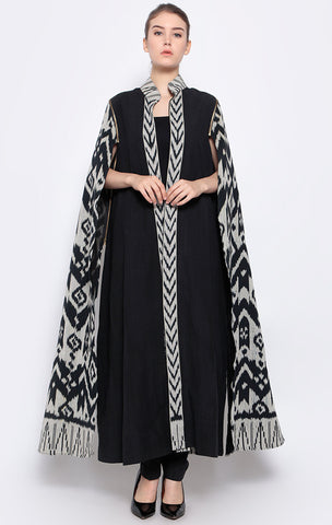 Handwoven Ikat Long Cape