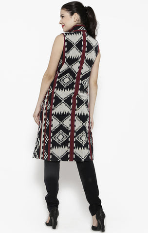 Ikat Overlapping Vest