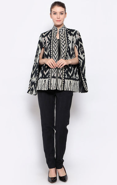 Ikat Detachable Cape