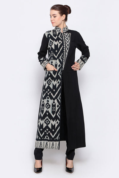 Long overlay Ikat Outer