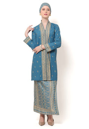 Kanzi Blue Kebaya Set with Sarong