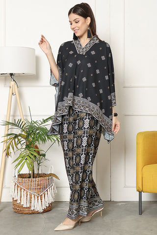 Kanzi Songket Pants Set Black
