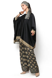 Kanzi Black Tapis Tunik Set with Pants
