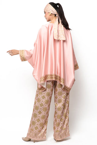 Kanzi Pink Tapis Tunik Set with Pants
