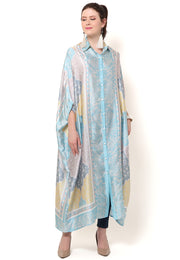 Kanzi 3/4 Sleeve Traditional Collared Kaftan